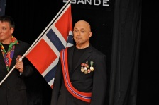 Storfint besøk (Foto: Svein-Ivar Pedersen, Sande Avis)